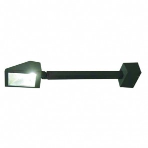 70W Flush Light with Arm and Base in Black Vibe Lighting