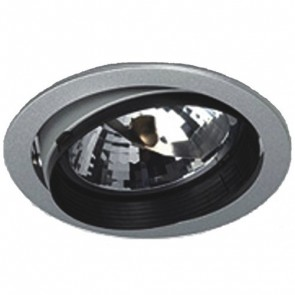 Commercial Low Voltage AR111 Halogen Gimbal Fitting in Silver Vibe Lighting