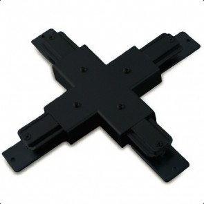 Cross Joiner for 3-circuit Track in Black Vibe Lighting