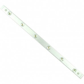 Designer 49.5cm LED Barlight 6 x 1W Philips LED - Warm White in Brushed Silver Vibe Lighting