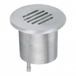 Low Voltage Inground Up Light with Grill Face in Stainless Steel Vibe Lighting