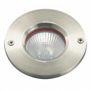 Low Voltage Inground Up Light with Plain Face in Stainless Steel Vibe Lighting