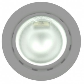 Low Voltage Recessed Shelf Light in Satin Chrome Vibe Lighting