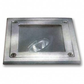 Low Voltage Square Adjustable Inground Up Light in Stainless Steel Vibe Lighting
