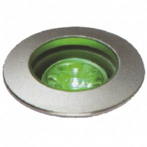 Miniature LED Uplight with Clear Lens in Green Vibe Lighting