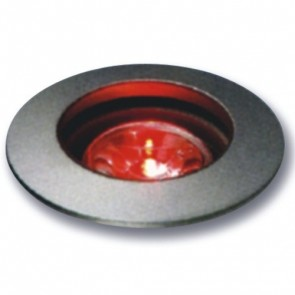 Miniature LED Uplight with Clear Lens in Red Vibe Lighting