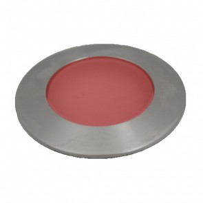 Miniature LED Uplight with Frosted Lens in Red Vibe Lighting
