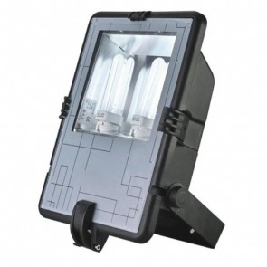 PLC 2 x 42W Energy Saving Floodlight in Black Vibe Lighting