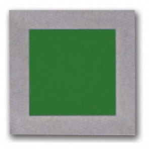 Recessed Silver Trim Square Plain Faced LED Wall Light in Green Vibe Lighting