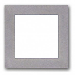 Recessed Silver Trim Square Plain Faced LED Wall Light in White Vibe Lighting
