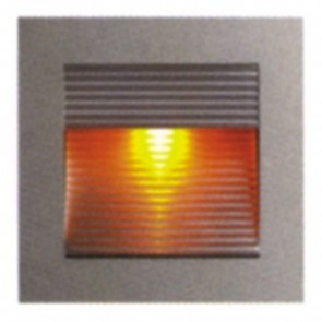 Recessed Silver Trim Square Ribbed Faced LED Wall Light in Warm White Vibe Lighting