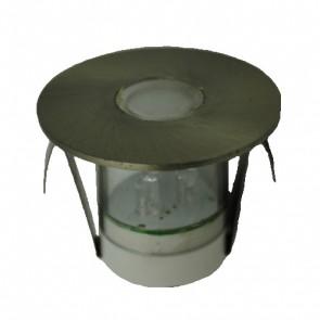 Round LED Deck Light Kit in White (Set of 5) Vibe Lighting