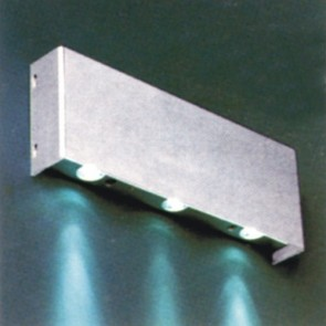 Silver Square LED Surface Mounted Wall Light with 3x1W White LED Vibe Lighting