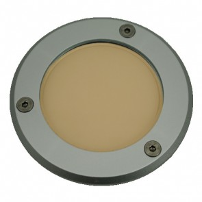 Silver Trim LED Weatherproof Inground Uplight in Warm White Vibe Lighting
