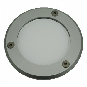 Silver Trim LED Weatherproof Inground Uplight in White Vibe Lighting