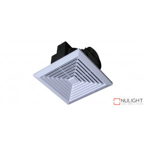 JUMBO - 250mm -  High Volume Side ducted Square  Exhaust Fan - White VTA