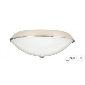 210mm Oyster Light - 1 x E27 Lamp Holder - Brushed Chrome VTA