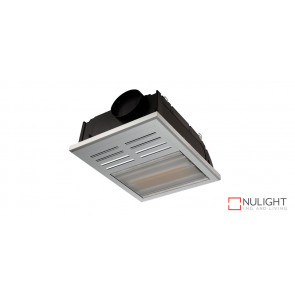 REGENT 2 in 1 - Bathroom Heater with side ducted exhaust fan and 1 x 800watt Infrared Heat Lamp - Silver VTA