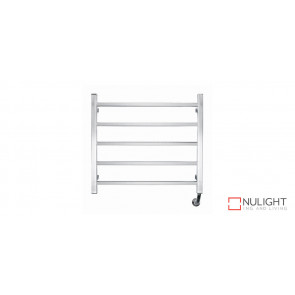 JASPER 5 - Five Rail - Stainless Steel Heated Towel Rail - Square Rails VTA