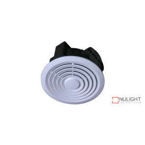 TURBO - 250mm -  High Volume Side ducted Round Exhaust Fan - White VTA