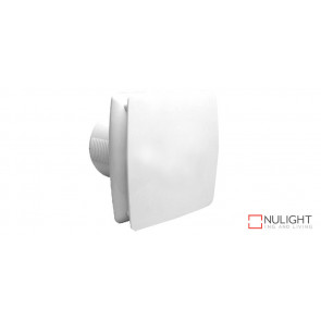 UNIVERSAL 150 - 150mm Modern Wall or Ceiling Exhaust Fan with Back draft Shutter - White VTA