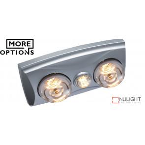 EKO - 2 Light 3 in 1 Bathroom Heat Exhaust with side duct - 6w LED R63 energy saver globe VTA