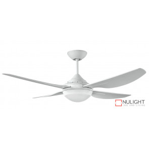 "HARMONY II - 48""/1220mm ABS 4 Blade Ceiling Fan with 18w LED Light - White - quick connect wiring VTA"