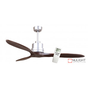 LOTUS IQ - 54 inch 1350mm DC Energy Saving Ceiling Fan - 3 Dark Timber Blades - Incl LCD Display Remote Control VTA