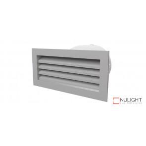 150mm Premium Exterior Aluminium Vent with duct adapter (fits standard brick size) VTA