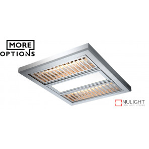 REGENT 3 in 1 with Alum Grate - Premium Exhaust - 12w LED Centre Panel And 2x500w Infrared Heat Lamps VTA
