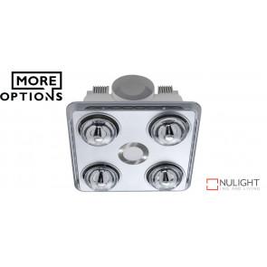 BROOK - 4 Light 3 in 1 Bathroom Heat Exhaust - side ducted VTA