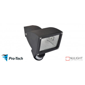 WEDGE - 1 Light Floodlight in Matte Black  - Motion Sensor VTA