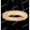 Natural Crystal Ring Crystal Pendant Light 1000mm Citilux