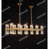 Ring K9 Crystal Up And Down Double Head Long Dining Chandelier Citilux