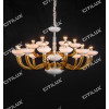 Simple European Glass Primary Color Glass White Jade Cover Chandelier Medium Citilux